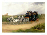 The London to Brighton Stage Coach Giclee Print by William Joseph Shayer