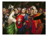 Christ and the Adulteress, c.1527-29 Giclee Print by Lorenzo Lotto