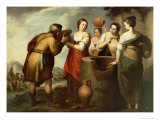 Rebecca and Eliezer at the Well, c.1665 Giclee Print by Bartolome Esteban Murillo