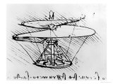 Detail of a Design For a Flying Machine, c.1488 Giclee Print by  Leonardo da Vinci