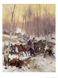 Artillery Combat in a Wood During the Siege of Paris, 1870-71 Giclee Print by Jean-Baptiste Edouard Detaille