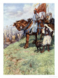 The Lionheart on Horseback, by His Side the Nubian Slave Giclee Print by Simon Harmon Vedder