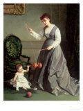 Angel and Devil or Playing Diabolo, The-Devil-On-Two-Sticks 1868 Giclee Print by Cesare Felix Dell&#39; Acqua