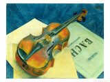 Still Life with a Violin, 1921 Giclee Print by Kuzma Sergievitch Petrov-Vodkin