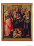 Madonna and Child with Saints, c.1518 Giclée-tryk af Rosso Fiorentino (Battista di Jacopo)