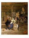 Tavern Interior with Card Players Giclee Print by Jan Havicksz. Steen
