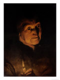 Study of an Old Woman, Holding a Candle Giclee Print by Jacob Jordaens