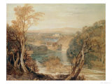 The River Wharfe with a Distant View of Barden Tower Giclee Print by Joseph Mallord William Turner