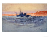 Sunrise: Motor Launch Off Gallipoli, Italy, from The Naval Front by Gordon S. Maxwell, 1920 Giclee Print by Donald Maxwell
