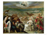 Allegory of the Turkish Wars: The Capture of Stuhlweissenburg, 1603-4 Reproduction procédé giclée par Johann or Hans von Aachen