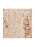 Figure Studies For a Woman Giclee Print by  Michelangelo Buonarroti