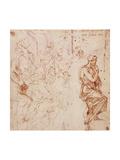 Figure Studies For a Woman Giclee Print by  Michelangelo Buonarroti