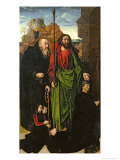 Portinari Altarpiece, St. Thomas and St. Anthony with Tommaso Portinari and Two Sons, c.1479 Giclee Print by Hugo van der Goes
