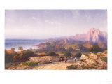 Southern Coast from Near Cape S. Teodoro Giclee Print by Carlo Bossoli