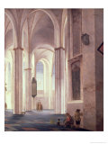 The Interior of the Buurkerk at Utrecht, 1644 Giclee Print by Pieter Jansz Saenredam