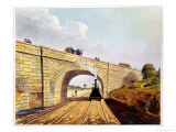 Rainhill Bridge, Plate 12 from Liverpool and Manchester Railway, Engraved by Henry Pyall Giclee Print by Thomas Talbot Bury