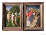 Diptych of the Fall of Man and the Redemption Giclee Print by Hugo van der Goes