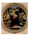 Madonna and Child with Angels and St. John the Baptist Giclee Print by Sandro Botticelli