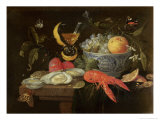 Still Life with Fruit and Shell Fish, 1653 Giclee Print by Jan Van, The Elder Kessel