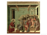 Maesta: Christ Washing the Disciples' Feet, c.1308-11 Gicle-tryk af Duccio di Buoninsegna