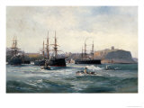 The Channel Fleet Off Scarborough, 1896 Giclee Print by William Lionel Wyllie