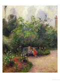 Corner of the Garden at the Hermitage, Pontoise, c.1877 Giclee Print by Camille Pissarro