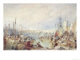 The Port of London Giclee Print by Joseph Mallord William Turner