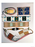 Collection of Zulu Beaded Artefacts Giclee Print by  African