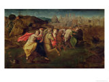 Cloelia and the Virgins Fleeing from the Field of Porsenna, c.1530-35 Giclee Print by Domenico Beccafumi