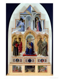 Altarpiece, Madonna and Child with Saints, Miracles of St. Anthony, St. Francis and St. Elizabeth Giclee Print by Piero della Francesca