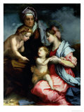Madonna and Child with St. Elizabeth and St. John the Baptist, c.1528 Giclée-tryk af Andrea del Sarto