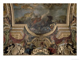 The King Taking Maestricht in Thirteen Days in 1673, Ceiling Painting from the Galerie Des Glaces Giclee Print by Charles Le Brun