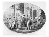 Outside the Old Hats Tavern, Engraved by Isaac Cruikshank, 1796 Reproduction procédé giclée par George Moutard Woodward