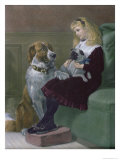 Her Only Playmates, Engraved by George H. Every, Pub by Arthur Lucas, 1872 Giclee Print by Heywood Hardy