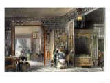 Boudoir and Bed-Chamber of a Lady of Rank, China in a Series of Views by George Newenham Wright Giclee Print by Thomas Allom