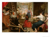 The Fable of Arachne, or the Spinners, c.1657 Giclee Print by Diego Velázquez