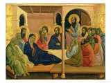 Maesta: The Virgin Taking Leave of the Disciples, 1308-11 Giclée-tryk af Duccio di Buoninsegna