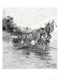 The Last Boatload of the British Leaving New York Giclee Print by Howard Pyle