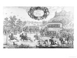 Last Horse Race Run Before Charles the Second of Blessed Memory, Ferry, Windsor Castle, 1684, 1687 Giclee Print by Francis Barlow