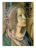 Detail of St. Catherine from the Altarpiece of San Barnaba Giclee Print by Sandro Botticelli