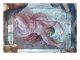 Sistine Chapel Ceiling, God Dividing Light from Darkness Giclee Print by  Michelangelo Buonarroti