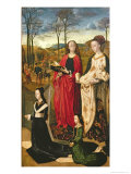 Portinari Altarpiece, St. Mary Magdalen and St. Margaret, Maria Baroncelli and Daughter, c.1479 Giclee Print by Hugo van der Goes