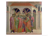 Maesta: Judas Receives Thirty Pieces of Silver, 1308-11 Gicle-tryk af Duccio di Buoninsegna