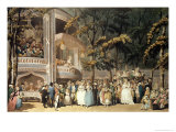 Vauxhall Gardens from Ackermann's Microcosm of London, 1809 Giclee Print by Thomas Rowlandson