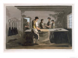 Cloth Dressers, from Costume of Yorkshire Engraved by Robert Havell Giclee Print by George Walker