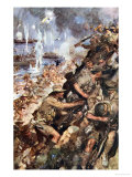 Midst Shot and Shell We Made the Narrow Beach, Landing at Gallipoli, c.1916 Giclee Print by Cyrus Cuneo