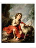 St. John the Baptist as a Child, c.1665 Giclee Print by Bartolome Esteban Murillo