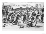 The Massacre of the Innocents, Engraved by Marcantonio Raimondi Giclee Print by  Raphael