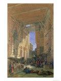 The Silk Mercers Bazaar of El-Ghooreeyeh, Cairo Giclee Print by David Roberts