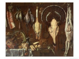 Still Life of a Butcher&#39;s Counter, 1621 Reproduction proc&#233;d&#233; gicl&#233;e par Jacopo da Empoli 